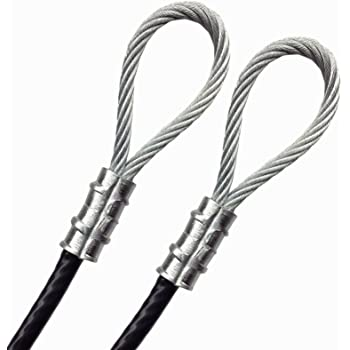 Amazon Com Psi Vinyl Coated 1 4 Galvanized Steel Wire Rope Metal Cable 7x19 Strand 3 16 Core Pvc Jacket Double Hoops Clothesline Suspension Luggage Safety Braided Steel Guide Utility Wire 30 Feet Black Home Improvement