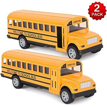 TOY CAR SCHOOL BUS USA MODEL TOY CAR BOY GIRL DAD BIRTHDAY PRESENT GIFT NEW