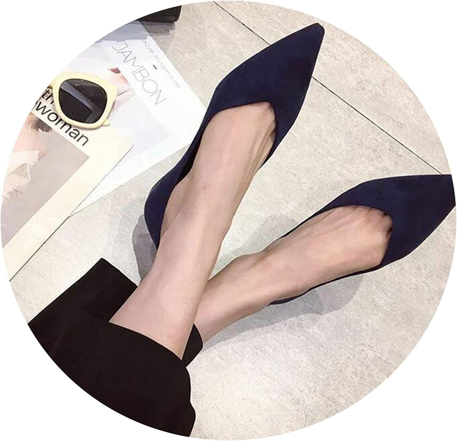 Spring Ladies Fashion Comfortable Pointed Shallow Mouth wear Ladies Loafers Black red bluee shoes