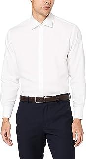 Van Heusen Men's Euro Tailored Fit Shirt Herringbone