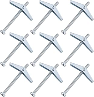 POPETPOP 10pcs Toggle Bolt and Wing Nut Assortment for Hanging Heavy Items on Drywall (M4X50)