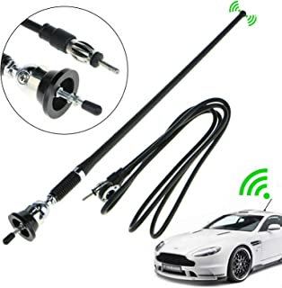 EEEKit Universal 16Inch Car Stereo Auto Roof Fender Radio Signal Antenna Fm Am Wing Mount Aerial, Extendable 130cm Wire