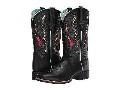 Ariat Blackjack VentTEK (Black Deertan) Cowboy Boots