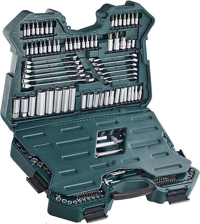 5053 opinioni per Mannesmann M98430- Custodia con chiavi a bussola e altri strumenti (215 pezzi,