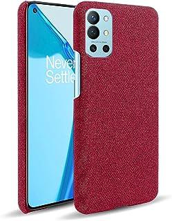 حافظة شوندا لهاتف وان بلس 9R ، غطاء من نسيج اللباد عالي الجودة لحماية بصمات الأصابع لهواتف وان بلس 9R 6.6 بوصة - أحمر