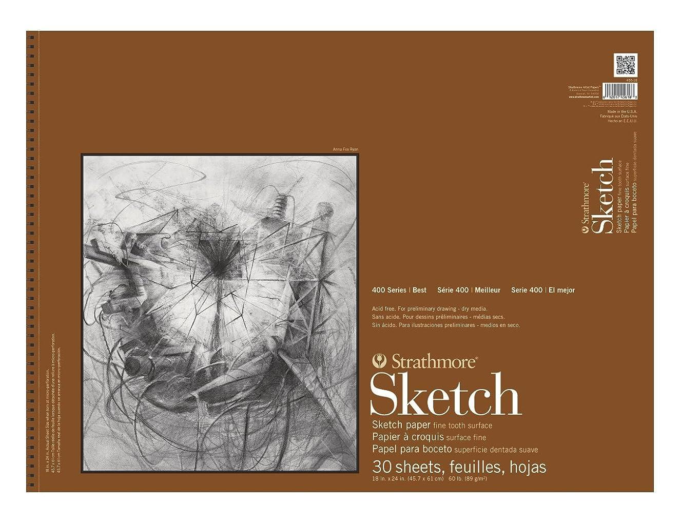 Strathmore 455-18 Strath Sketch S 400 18X24 30SHT 60LBS, 18