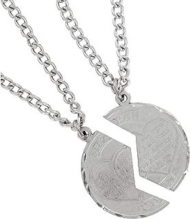 Necklace Bff Set New Mizpah Coin Pendant Best Friends Genesis Fancy Silver Tone Necklace For Women