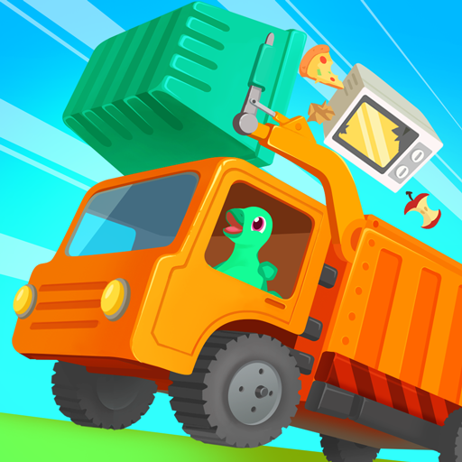 Dinosaur Garbage Truck - Simulator Games for kids
