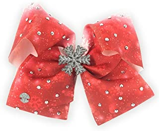 Jojo Siwa Large Christmas Snowflake Bow (red)
