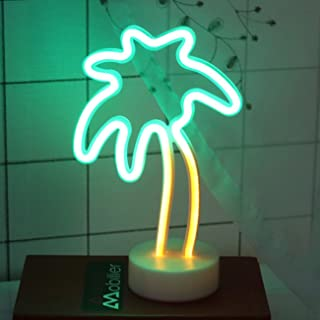 Neon Signs Light Led Neon Art Decorative Lights with Holder Decor for Children Baby Room,Party Wedding Decoration (Palm Tree)