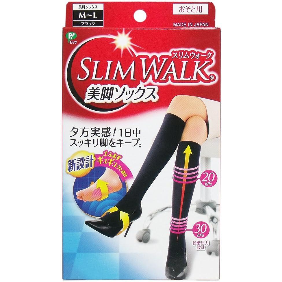 大佐仮定するウォーターフロント【セット品】スリムウォーク 美脚ソックス M-Lサイズ ブラック(SLIM WALK,socks,ML) ×2個
