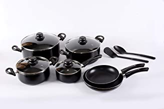 Alberto Cookware Set ,12  Pc,Black