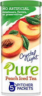 Crystal Light Pure Peach Iced Tea Drink Mix (5 Pitcher Packets)