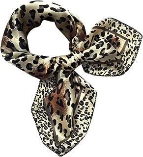 GREFER Fashion Women Square Head Scarf Wraps Scarves Ladies Printed Kerchief Neck Scarf