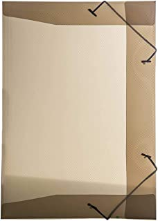 Pasta Aba Elastica Plastica Mini Oficio Delloline Fume - Pacote com 10, Dello, 0252I.0010, Fume