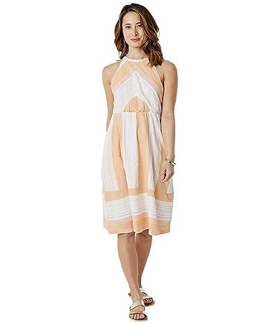 Carve Designs Mabel Dress (Guava Sunrise Stripe) Women