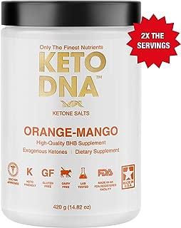 Keto DNA Orange Mango Exogenous Ketone Supplement | 30 Servings - 420g | BHB Salts for Ketosis | Beta Hydroxybutyrate Ketones Powder | Perfect to Burn Fat and Increase Energy & Focus | Large