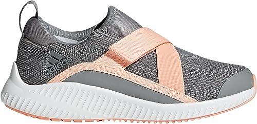 Adidas Originals Unisex-Kids Fortarun Running chaussures, gris Clear Orange Aero vert, 4.5 M US Big Kid
