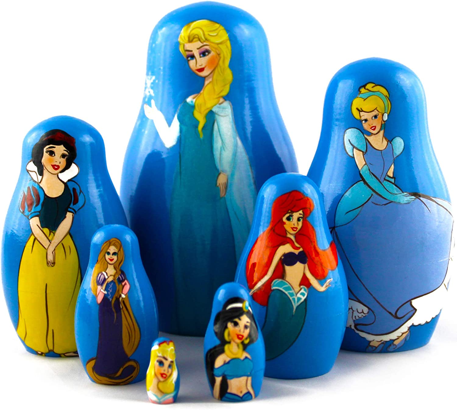 Fairy Princesses Dolls Set 7 Pieces Ranking TOP10 Nesting Wooden security - Dol Russian