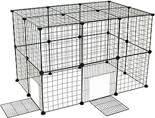 VENTOTA ペットフェンス26枚セットドア2枚 バリアゲート 犬猫うさぎ メッシュプレイサークル
