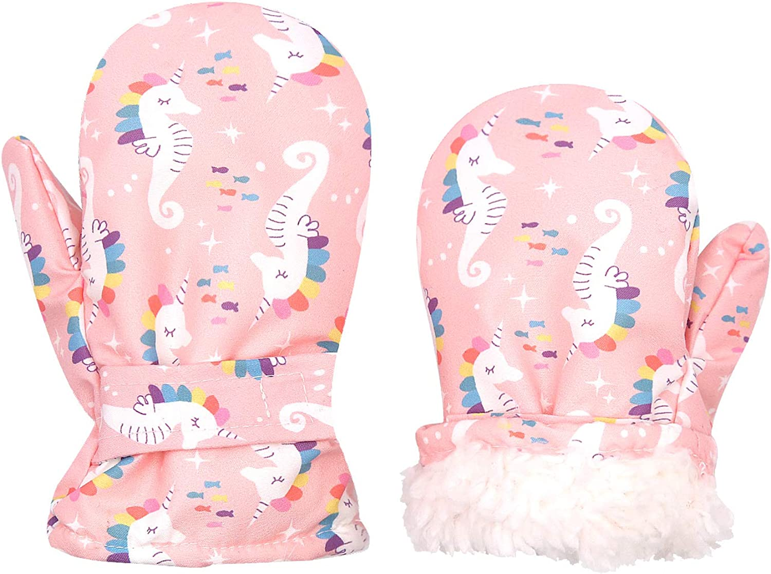Toddler Waterproof Mittens Fleece Lined Boys W Girls Baby Winter New Max 84% OFF mail order