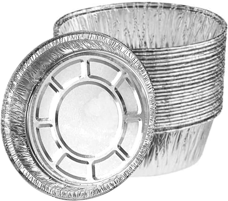 30 Piezas Bandeja de Aluminio Desechable, Utensilios para Hornear de Papel de Aluminio Reutilizables y Reciclables para Pasteles Pequeños, Tartas de Mermelada, Etc