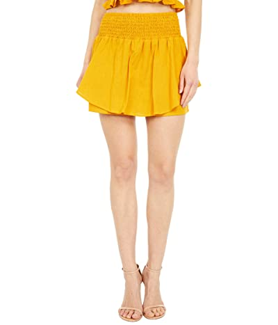 BCBGeneration Smocked High-Waisted Woven Skort SB1SX5B05 (Golden Rod) Women