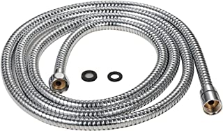Purelux 100 Inch Extra Long Shower Hose for Handheld Shower Head with Brass Fittings, 8 feet 4 inches Made of Stainless Steel Chrome Finish
