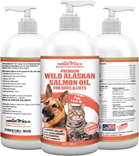 Paramount Pet Health Wild Alaskan Salmon Oil for Dogs & Cats - 100% Wild Caught Bottled in USA - 465mg Dha and 423mg Epa F...