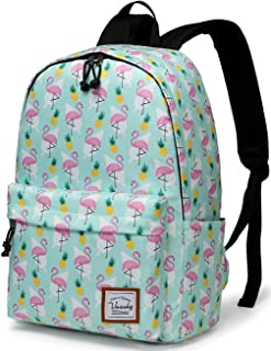 School Backpack for Girls,VASCHY Water Resistant Durable Casual Schoolbag Bookbag for Middle School Students