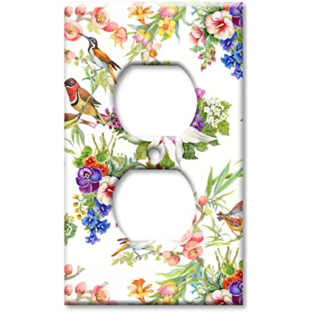 Art Plates Brand Electrical Outlet Cover Wall Switch Plate Watercolor Birds Amazon Com