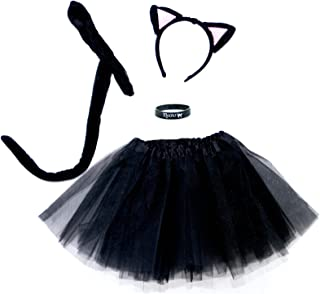 Spooky Black Kitty Cat Complete Costume Set