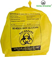 TOTAL SUPPLIERS Hygiene Bio Waste Virgin Printed Garbage Bag (Yellow, 100 Pieces, 29x39 Inch)