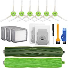 Reserveonderdelen voor iRobot Roomba i7 i7 + / i7 Plus E5 E6 E7, Vervangingsset Hoofdborstel, 6 Zijborstels, 3 Filters en ...