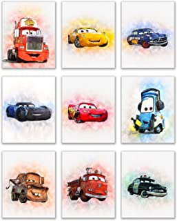 Cars Lightening McQueen Classic Large Movie Poster Print A0 A1 A2 A3 A4 Maxi