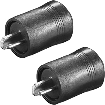 2x Lautsprecher Stecker zum Löten schwarz