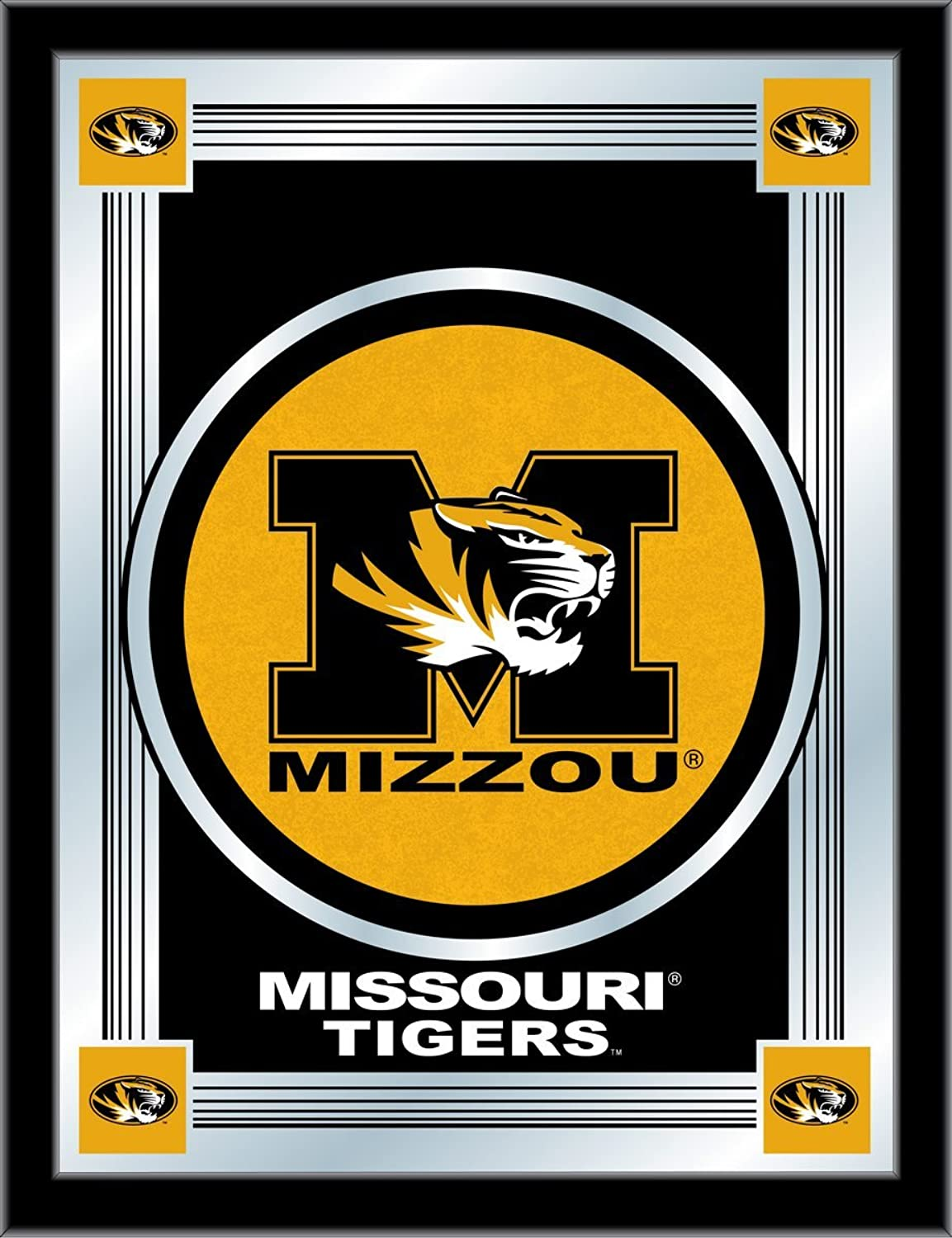 Holland Bar Stool NCAA Missouri Tigers Logo Mirror, 17 X 22-Inch