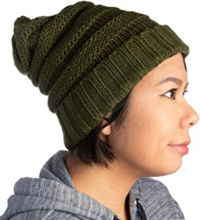 DG Hill Winter Hat for Women Slouchy Beanie Hat Chunky Knit Stocking Cap Soft Warm Cute