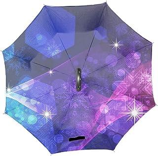 逆さ傘 逆折り式傘 自立傘 Color Stars晴雨兼用 uvカット 手離れC型手元 撥水 耐風 丈夫 濡れない 車用 ビジネス用