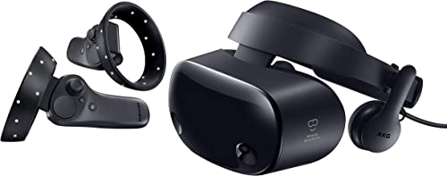 """Samsung Electronics HMD Odyssey+ Windows Mixed Reality Headset with 2 Wireless Controllers 3.5"""" Black (XE800ZBA-HC1US)"""