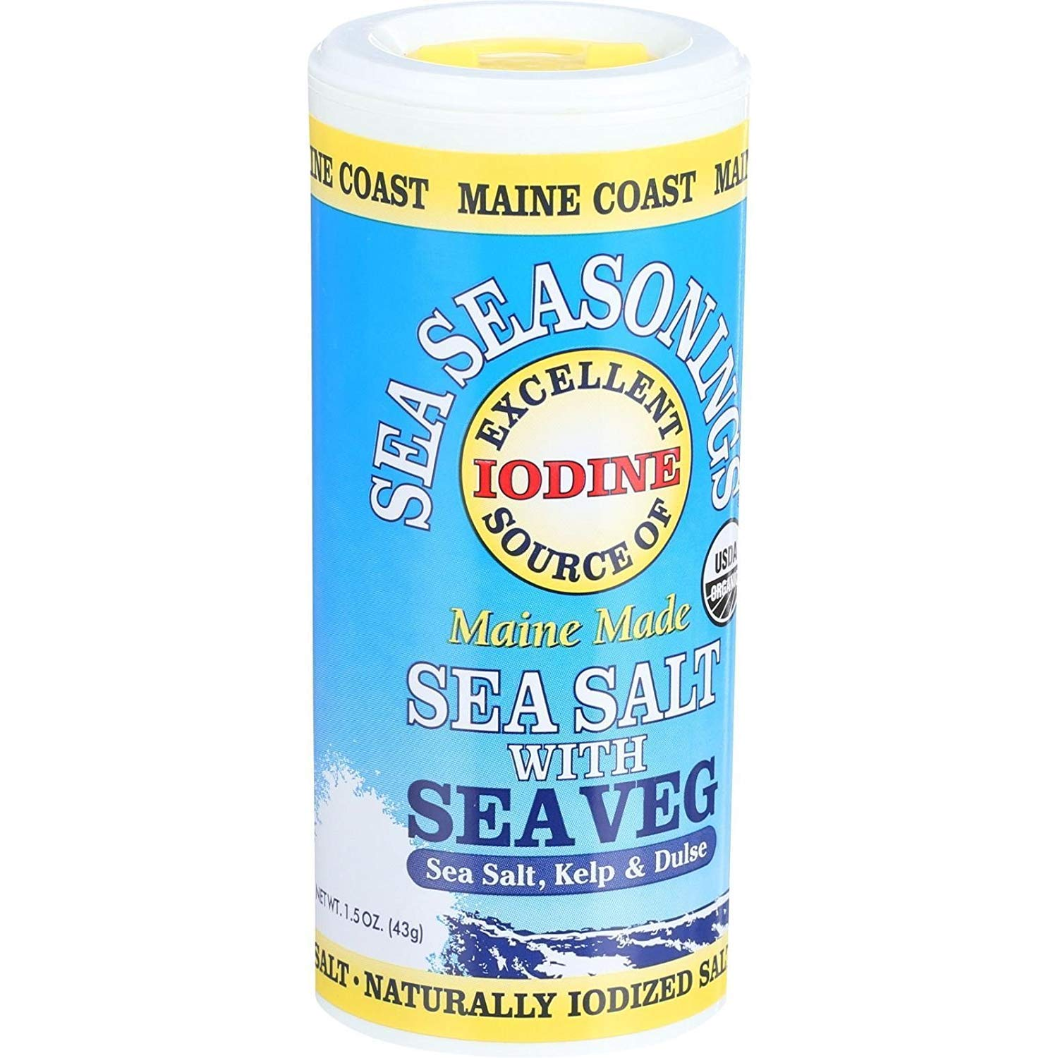 Maine Coast Sea Salt Max 40% OFF with Vegetable Ounce - low-pricing 1.5 Seasoning 6