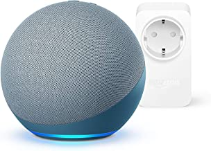 Nuevo Echo (4.ª generación) | Azul grisáceo |+ Amazon Smart Plug (enchufe inteligente WiFi), compatible con Alexa