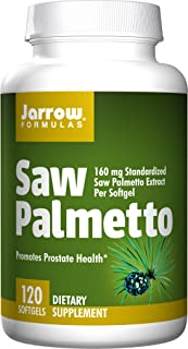 Jarrow Formulas, Saw Palmetto, 160 milligrams per softgel, 120 Softgels. Pack of 4 bottles.