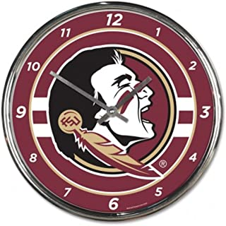 NCAA Florida State Seminoles WinCraft Official Chrome Clock