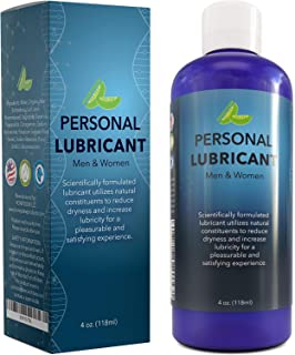 Best Water Based Lubricant for Women and Men - Natural Hypoallergenic Lube - Carrageenan Personal Lubricant for Couples - Enriched with Aloe Vera Juice - Paraben Free