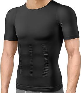 加圧シャツ メンズ 収納袋付き 加圧インナー コンプレッションウェア ダイエット 加圧式Tシャツ 半袖 スポーツウェア