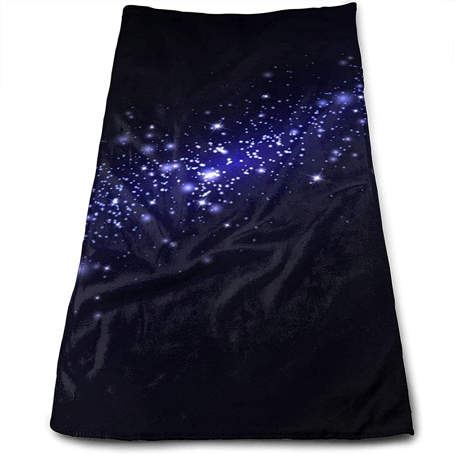 Epushow Flash Star Handkerchief for Space Handkerchief for Kitchen Handkerchief for Bathroom Soft Polyester Microfiber