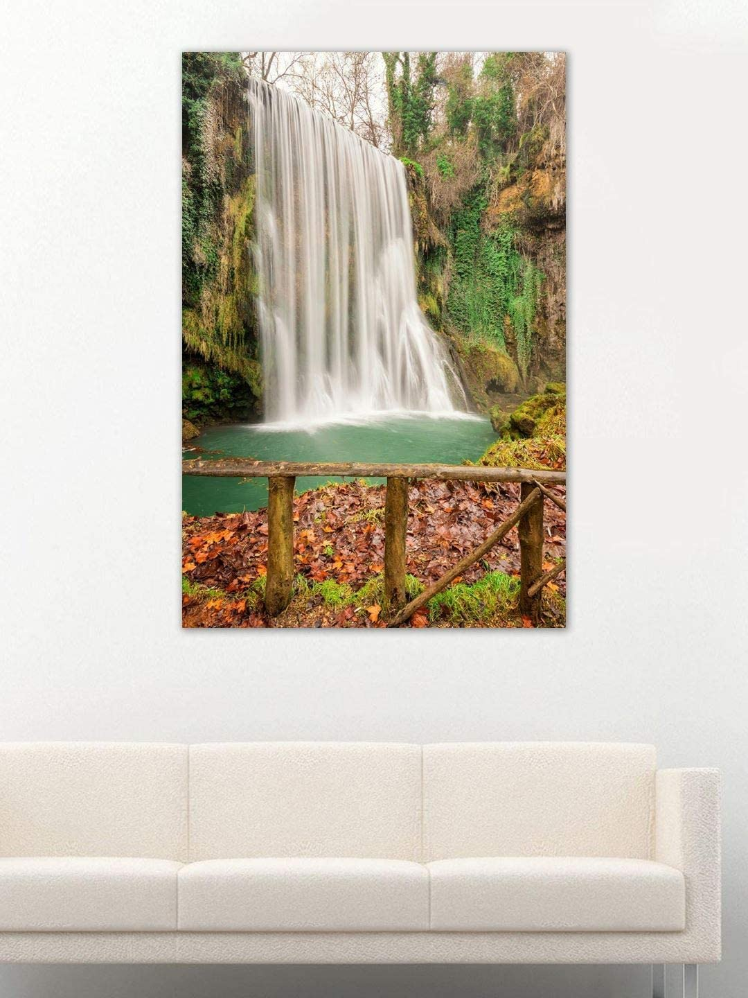 999Store Wooden Framed Printed Waterfall 爆安プライス Canvas 市販 Forest Painting