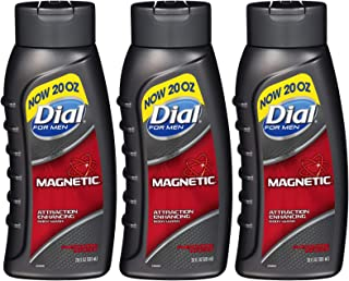 Dial for Men Magnetic, Attraction Enhancing-Pheromone Infused Body Wash, 20 Ounce (Pack of 3)