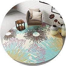 Area Carpet Round Carpet Nursery Rugs Nordic Modern Style Short Fluff Print Suitable for Living Room Bedside Bedroom Washa...